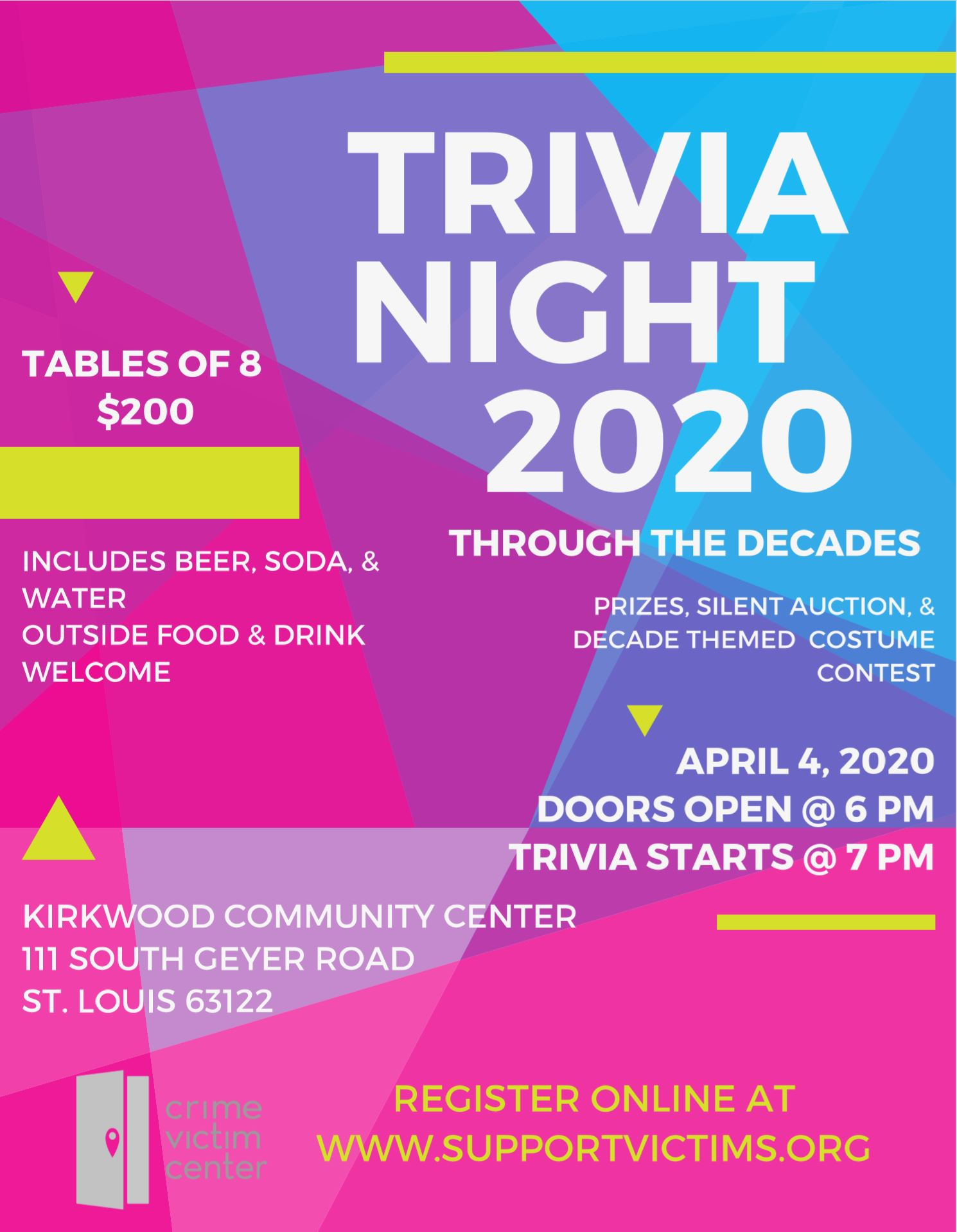 crime victim trivia night
